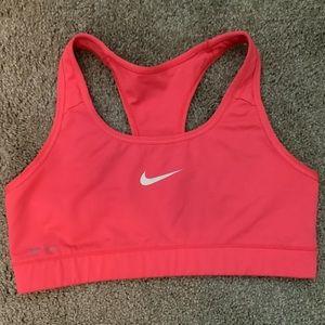 Pink Nike Dri-fit Sports Bra Medium